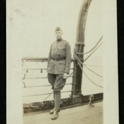 """S.S """"Kaiserin Auguste Victoria"""" [Photo of George Outerbridge]"""