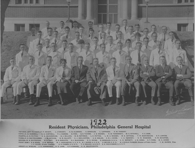 Resident Physicians 1922