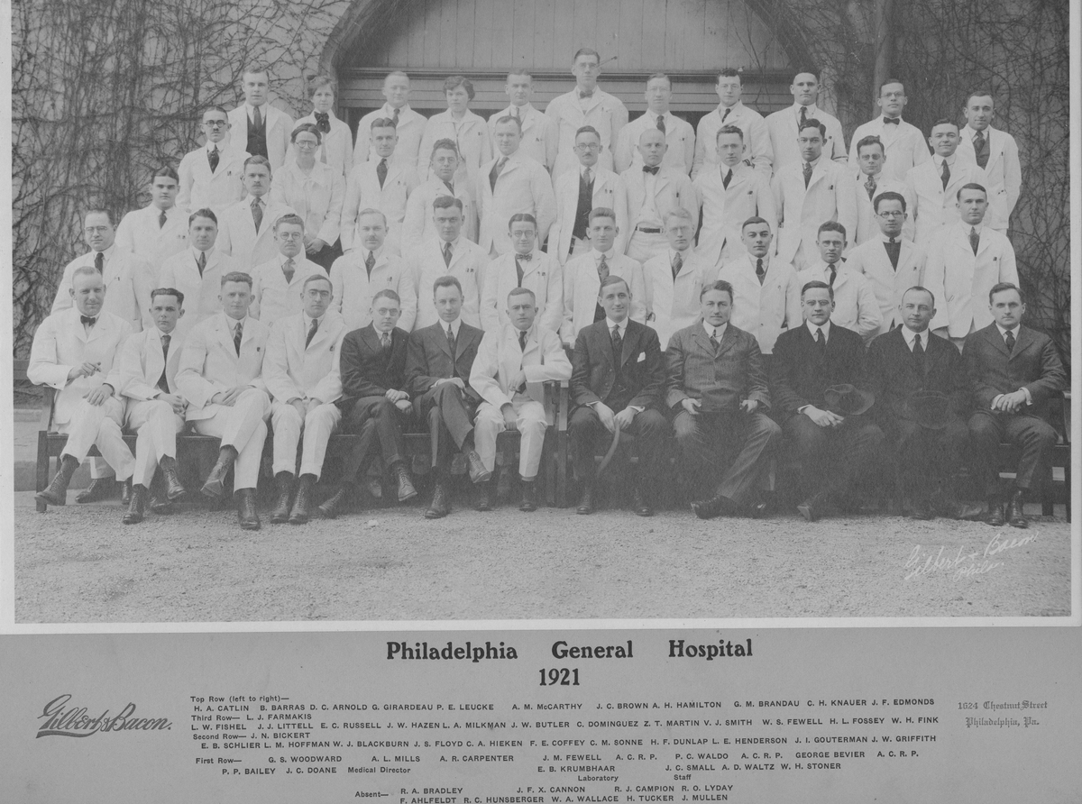 Resident Physicians 1921