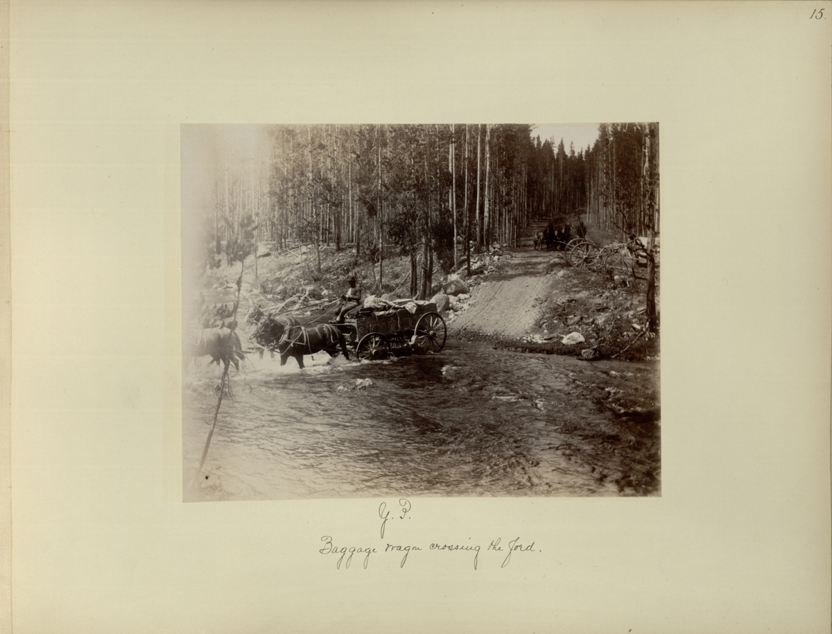 Y.P. : baggage wagon crossing the ford