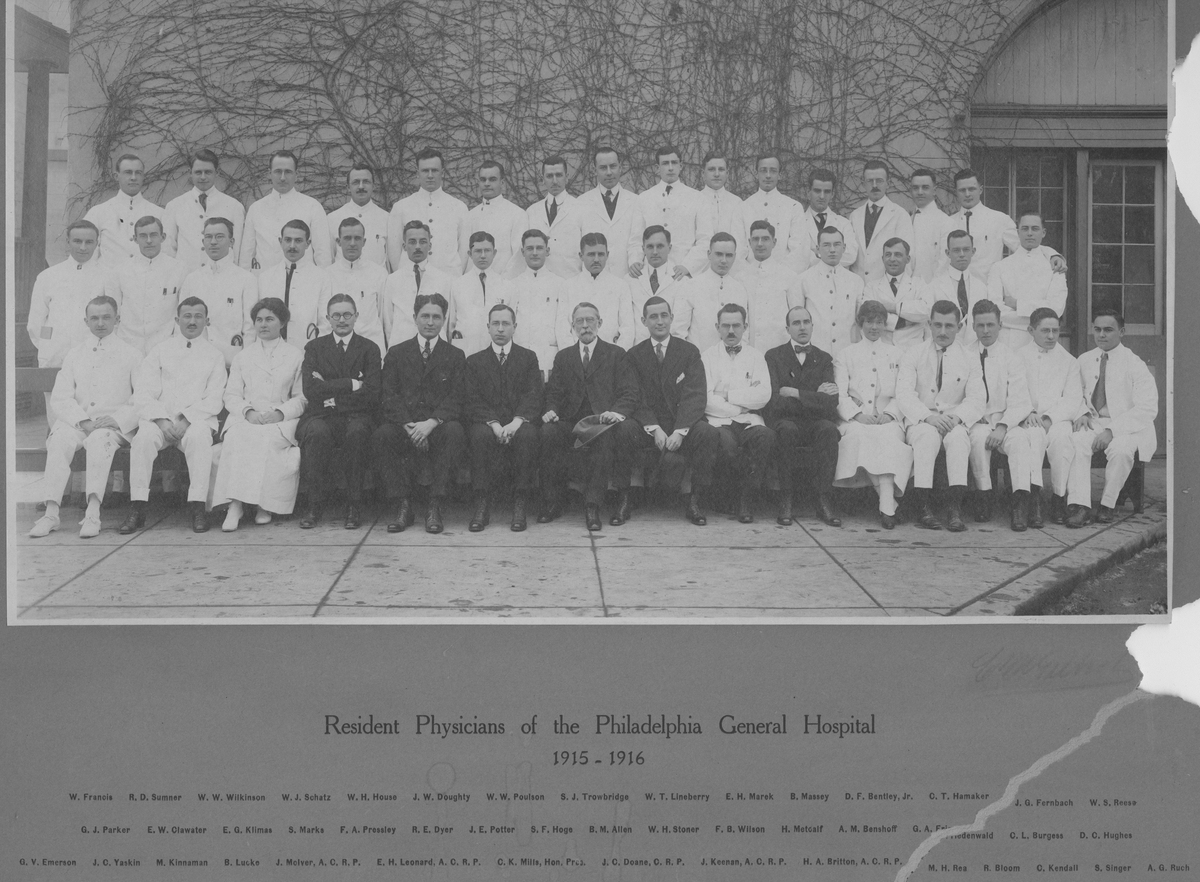 Resident Physicians ca. 1915