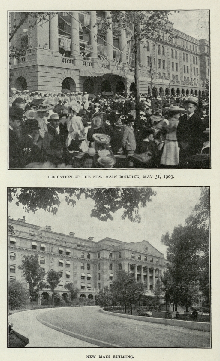 Dedication of the New Main Building, May 31, 1903. / New Main Building