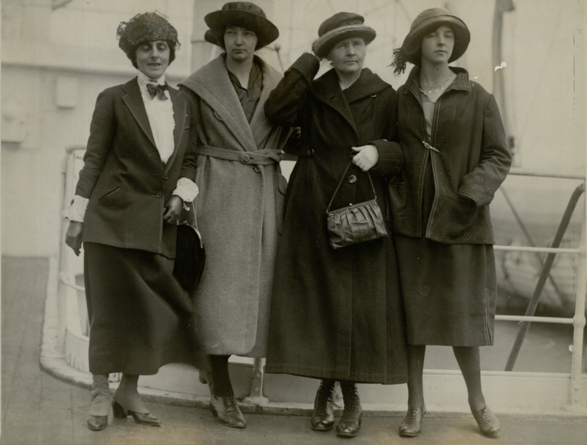 Marie Meloney.  Irene, Marie and Eve Curie