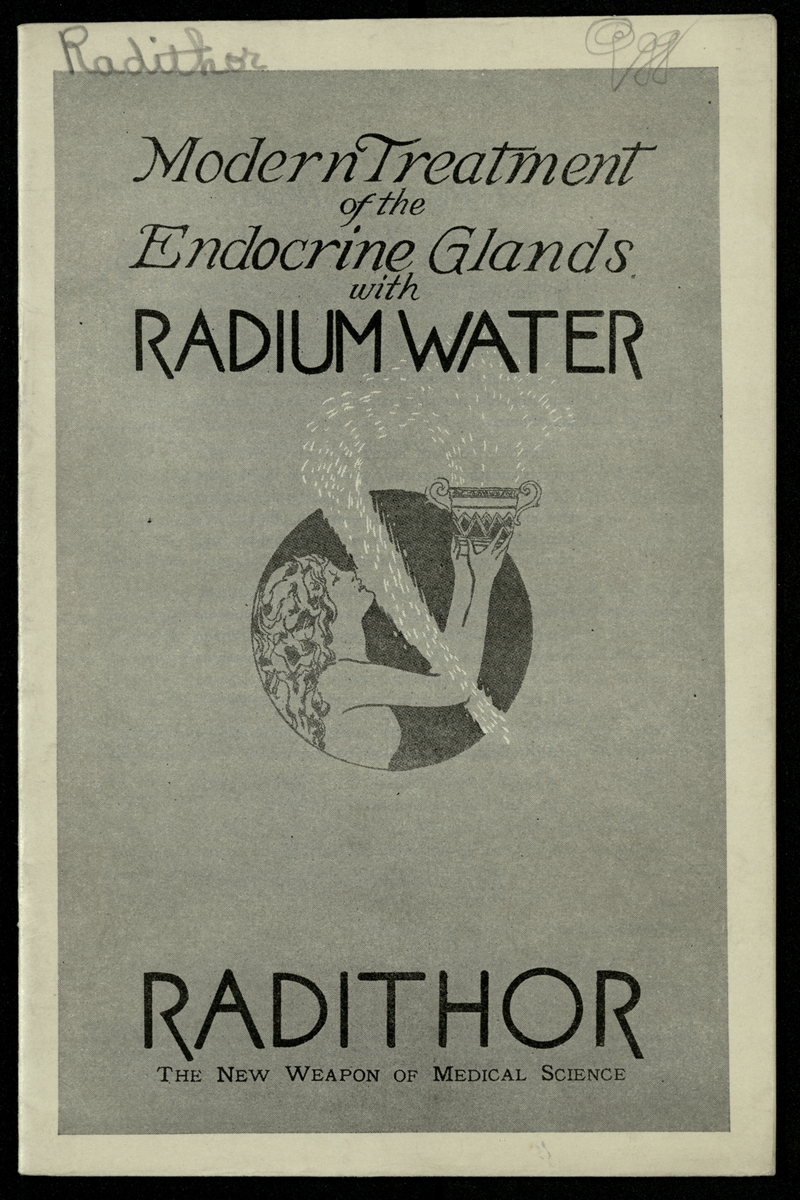 Modern Treatment of the Endocrine Glands with Radium Water, cover