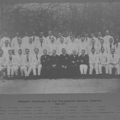 Resident Physicians ca. 1916