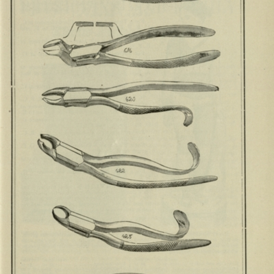 19th-century forceps for tooth removal