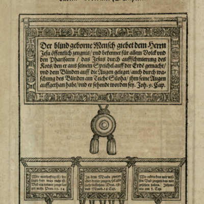 Woodcut from [Ophthalmodouleia], das ist Augendienst [Civ]