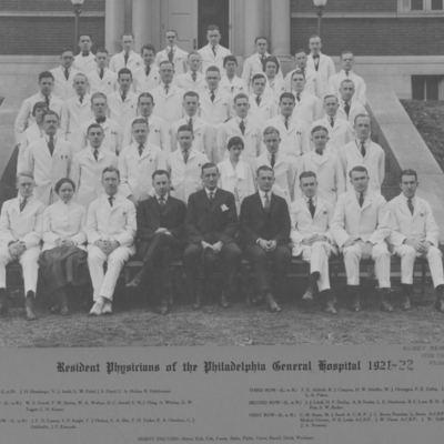 Resident Physicians ca. 1921