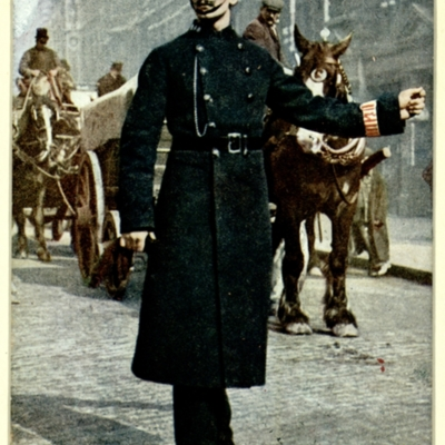 Traffic duty at Ludgate Circus