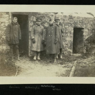 "French ""Pill Box"" on the Road near St. Mihiel. (Sessions Hetherington Outerbridge Wilder)"