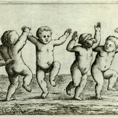 Four dancing children