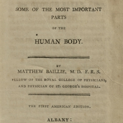 Title page of Morbid Anatomy