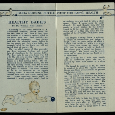 Healthy Babies, first page
