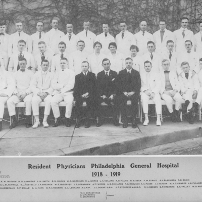 Resident Physicians ca. 1918